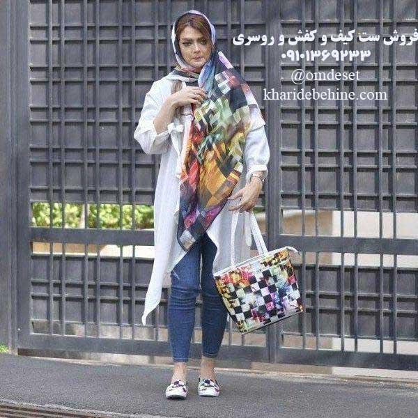 ست کیف و کفش و روسری قشنگ